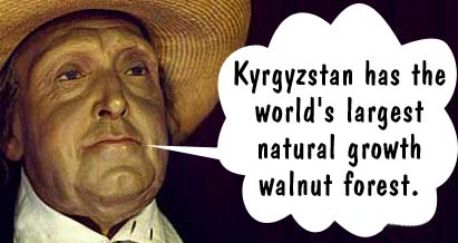 Kyrgyzstan has the world's largest natural growth walnut forest.